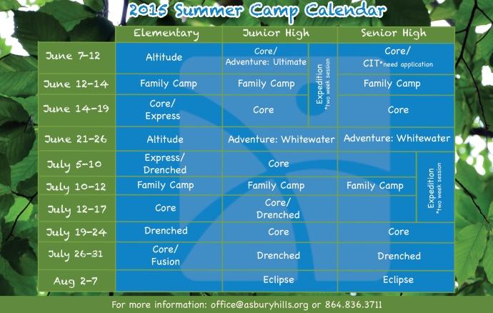 2015 Summer Calendar Web