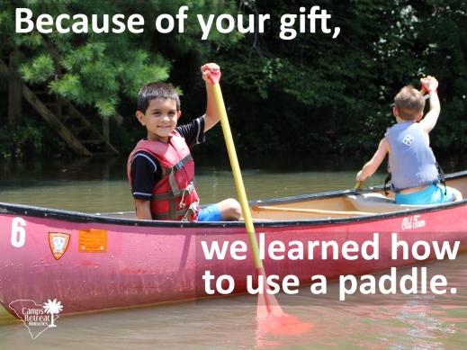 paddle and canoe